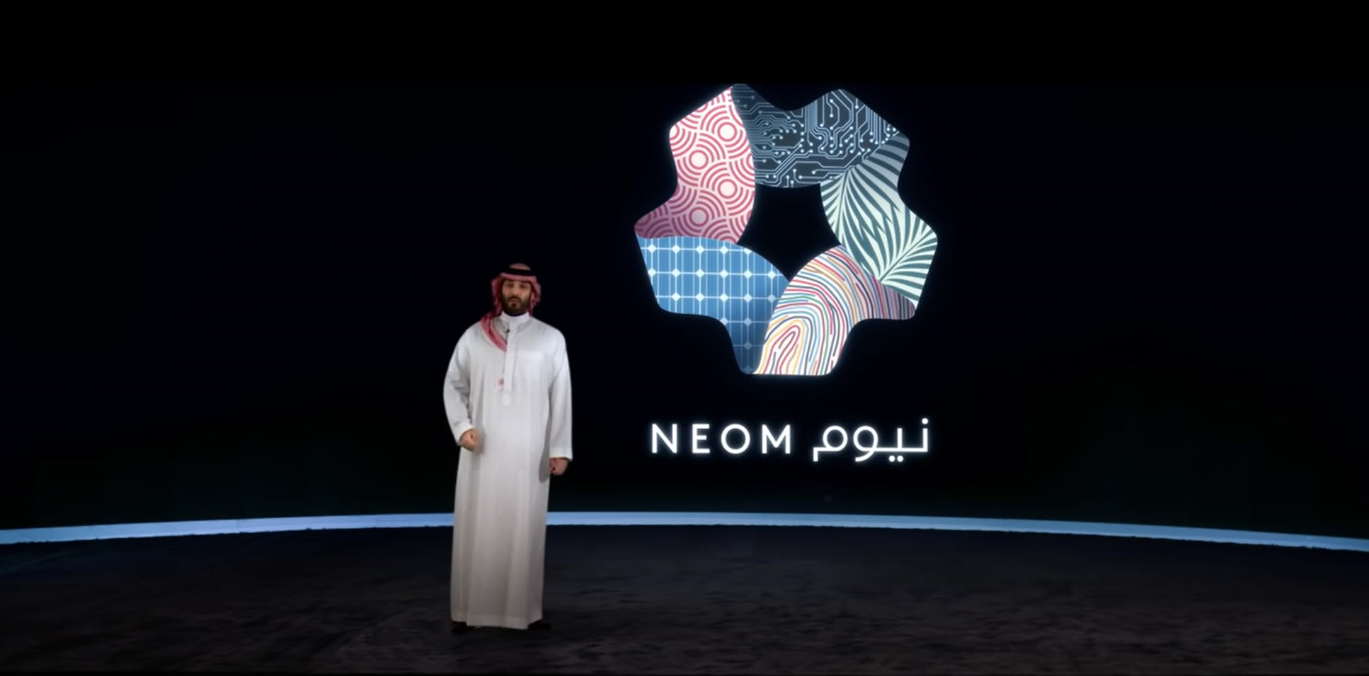 HRH Crown Prince Mohammed bin Salman, chairman of the NEOM Company board of directors, announces THE LINE at NEOM.